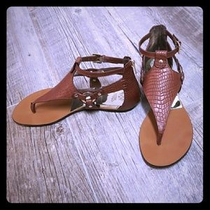 Vince Camuto Brown Leather Sandals